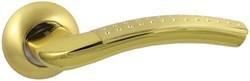 Дверная ручка Винтаж V26C AL на круглой розетке SB матовое золото - фото 19262