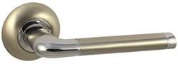 Дверная ручка Винтаж F28D AL на круглой розетке SN матовый никель - фото 19264