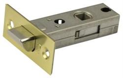 Защелка межкомнатная Винтаж L45 SB матовое золото с металлическим язычком - фото 19420