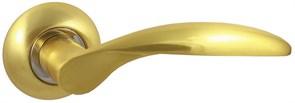 Дверная ручка Винтаж V20C AL на круглой розетке SB матовое золото