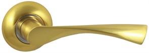 Дверная ручка Винтаж V23C AL на круглой розетке SB матовое золото