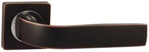 Дверная ручка Винтаж V01BL на квадратной розетке BL черный с патиной