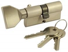 Цилиндровый механизм VC60 SN (ключ-вертушка) матовый никель