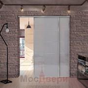 Раздвижная алюминиевая перегородка Loft Classica 206U Металлик стекло Lacobel Графит